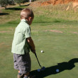 Toddler on Golf Course - Stock Photo