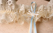 Blue and Cream Ribbons — Stock Photo