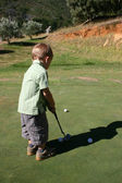 Toddler on Golf Course — Stock Photo