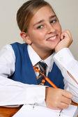 School meisje — Stockfoto