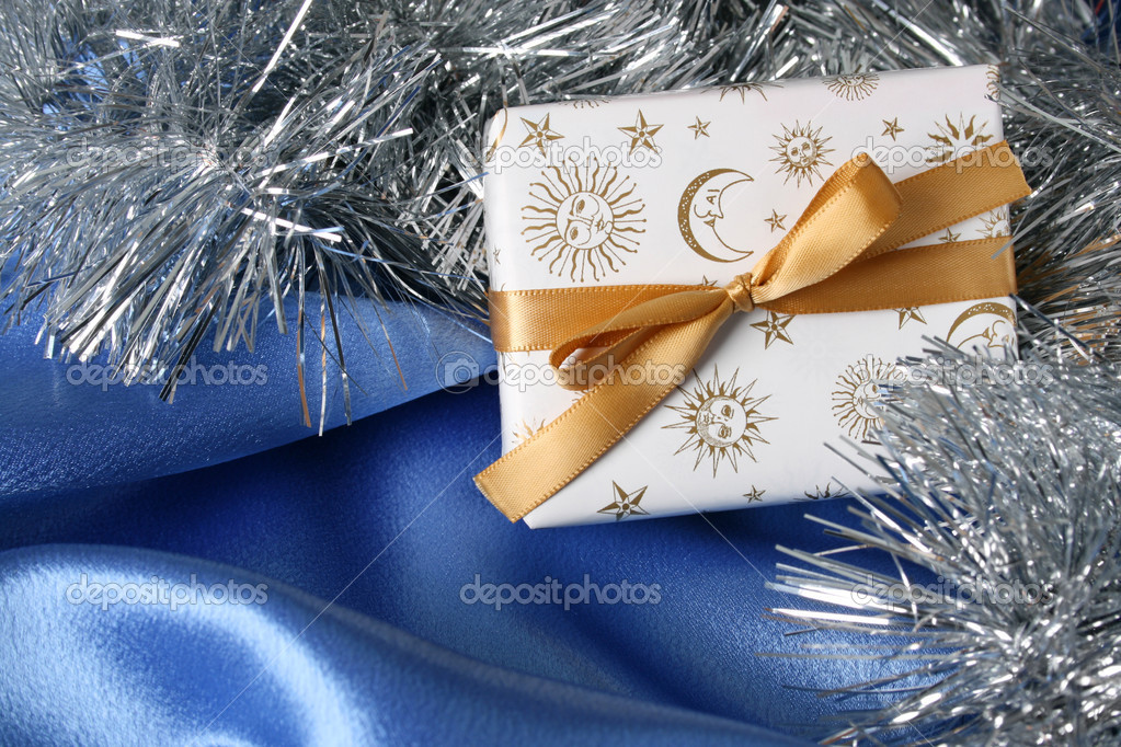 Wrapped and decorated christmas gifts and decorations  Stock Photo #8511386