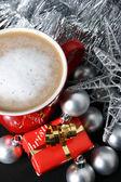 Weihnachtstag Kaffee — Stockfoto