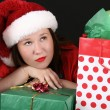 Christmas Brunette — Stock Photo
