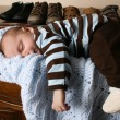 Sleeping baby boy — Stock Photo #9040913