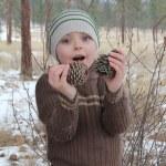 Winter Boy — Stock Photo