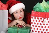 Christmas Brunette — Stock Photo