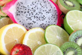 Sliced fruits — Stock Photo