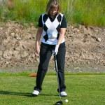 Female golfer — Stock Photo #9268861