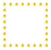 Toy duck border — Stock Photo
