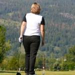 Female golfer — Stock Photo #9284427