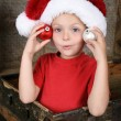 Playful Christmas boy — Stock Photo
