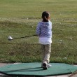 Golf practise — Stockfoto