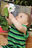 Baby in Garden — Stock Photo