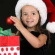 christmas flicka — Stockfoto