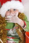 Выпекание рождественского печенья — Стоковое фото