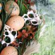 Easter Wreath - Stok fotoraf