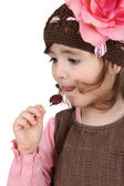 Eating lollipop — Stock Photo