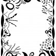 Swirls and scrolls border - Stock Photo
