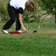 Female Golfer — Stock Photo