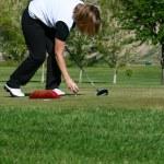 Female Golfer — Stock Photo