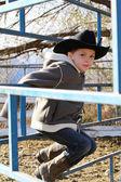 Młody kowboj — Zdjęcie stockowe