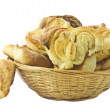 Grandma's buns in basket . — Stock Photo #8588567
