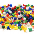Heap of colorful stationery buttons - Stock Photo