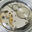 Mechanism of old wristwatches — Stock Photo