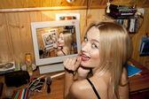 Funny beautiful woman — Stock Photo
