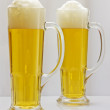Stock Photo: Two mugs of beer.