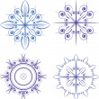 Blue snowflakes — Stock Vector #8078142