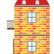 Stock Vector: Red House