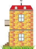 红房子 — 图库矢量图片