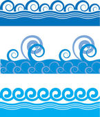 Seamless sea waves — Stock Vector