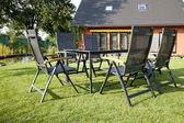 Metal Garden furniture — Stok fotoğraf