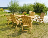 Garden furniture — 图库照片