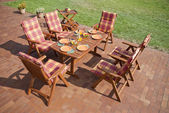 Garden furniture — Stock fotografie