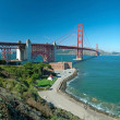 The Golden Gate Bridge in San Francisco with an azure ocean — Stock Photo