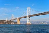 Suspension Oakland Bay Bridge in San Francisco to Yerba Buena — Stock Photo