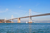 Suspension Oakland Bay Bridge in San Francisco to Yerba Buena — Stock Photo