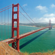 The Golden Gate Bridge in San Francisco with beautiful azure oce — Stock Photo #8906233