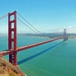 The Golden Gate Bridge in San Francisco with beautiful azure oce — Stock Photo