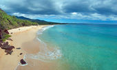 Big Beach on Maui Hawaii Island — Stock Photo