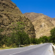 Road to the mountains in Turkmenistan. - Stock Photo