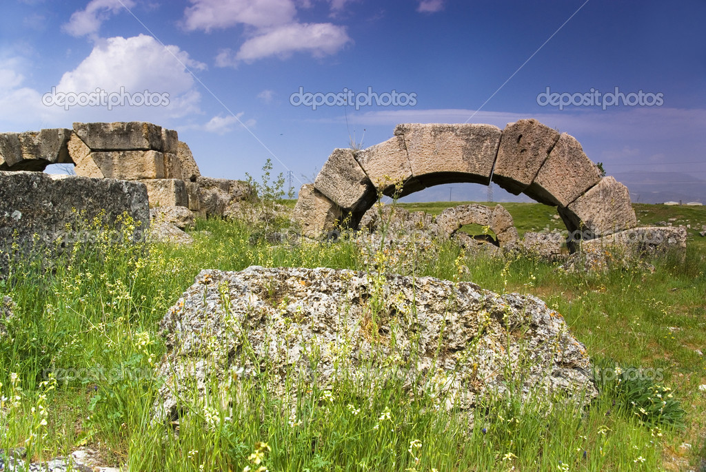 The Ruins of Laodicea a city of the Roman Empire in modern ...