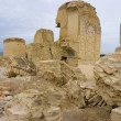 The ruined historic mosque in Turkmenistan Ashgabad Anau-depe - Stock Photo