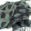 Stock Photo: Gray with black patterns ladies scarf