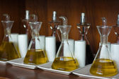 Olive oil and vinegar. — Stock Photo