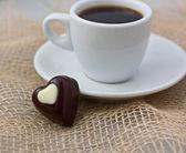 Coffee and chocolate. — Stock Photo