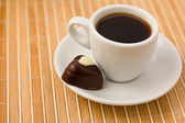 Coffee and chocolate. — Stock Photo